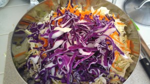 Pulled Pork is not complete without Spicy Cole Slaw